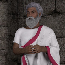 dForce Roman Toga and Tunic for Genesis 3 Male and Genesis 8 Male image 2