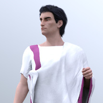 dForce Roman Toga and Tunic for Genesis 3 Male and Genesis 8 Male image 3