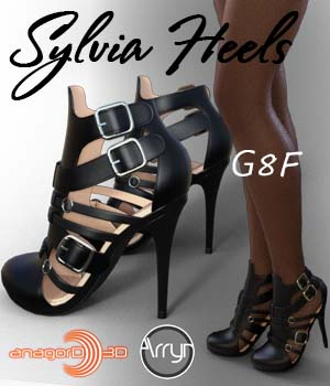 Sylvia Heels and Pantyhose G8F 3D Figure Assets Arryn