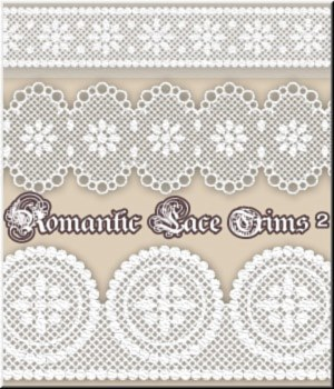 Romantic Lace Trims- 2-MR- 50 PSD 2D Graphics Merchant Resources LUNA3D