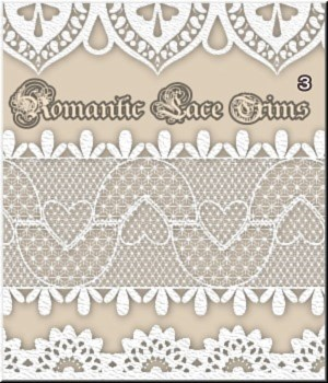 Romantic Lace Trims- MR-3- 50 PSD 2D Graphics Merchant Resources LUNA3D