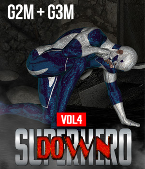SuperHero Down for G2M and G3M Volume 4 3D Figure Assets GriffinFX