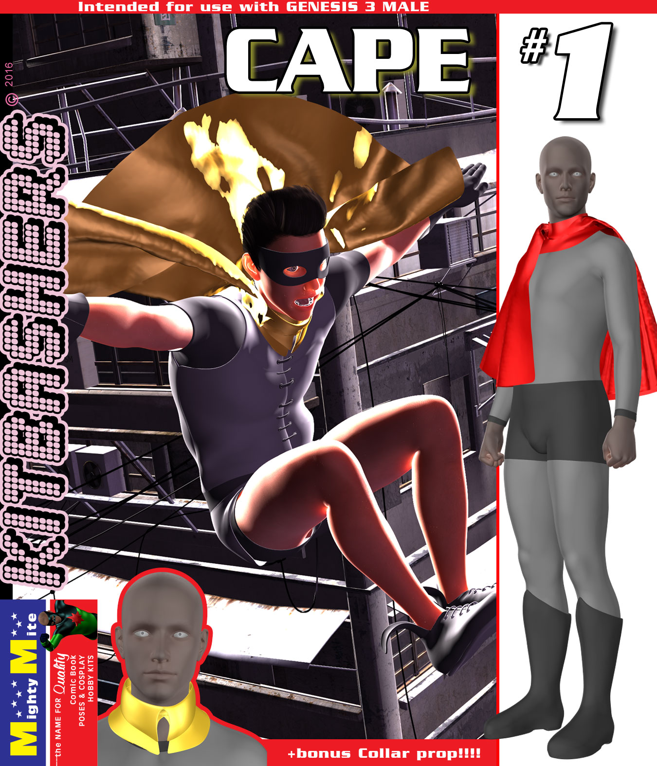Cape 001 MMKBG3M by MightyMite