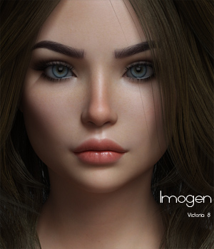 P3D Imogen for Victoria 8 3D Figure Assets P3Design