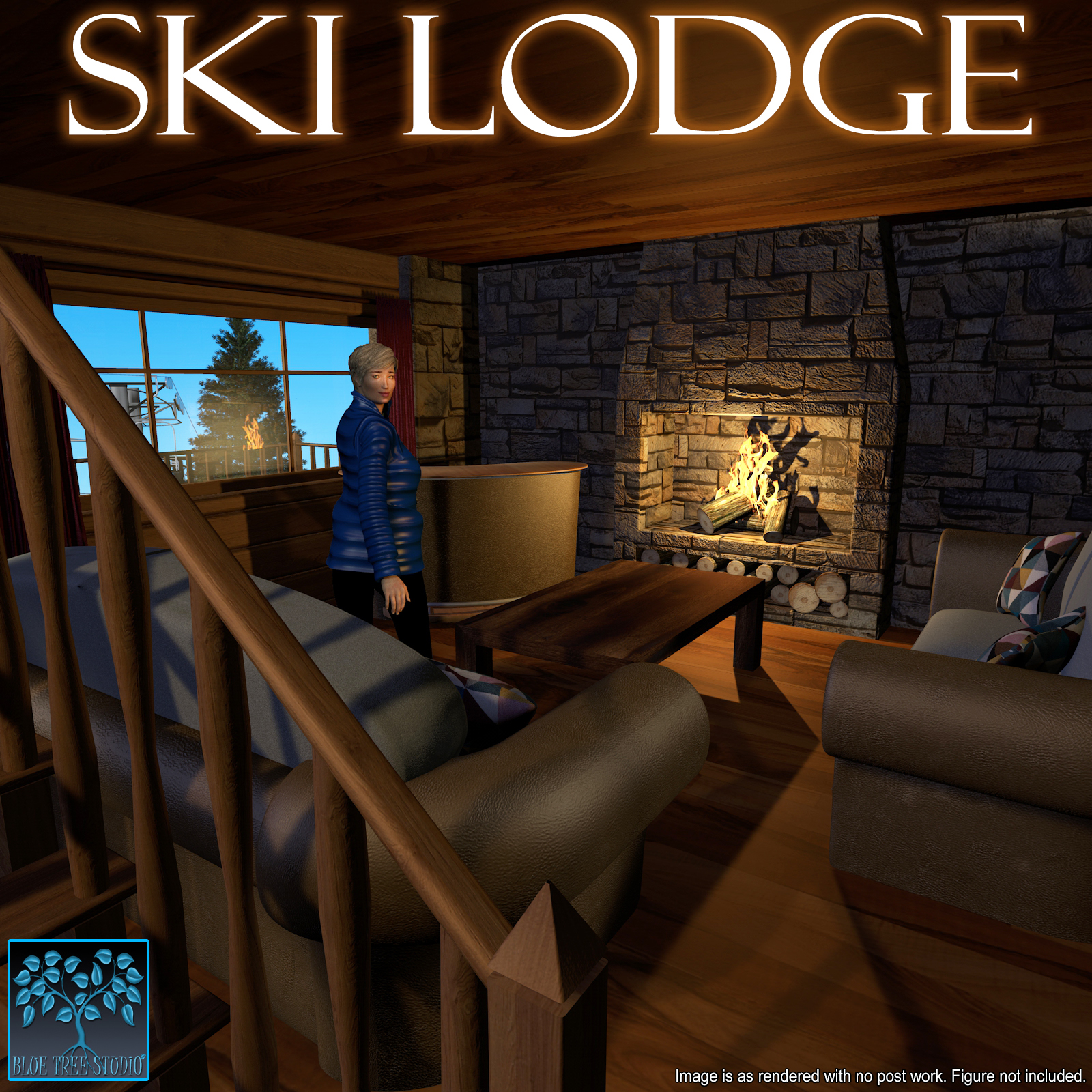 Ski Lodge for Poser
