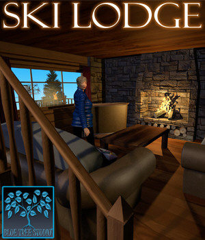Ski Lodge for Poser 3D Models BlueTreeStudio