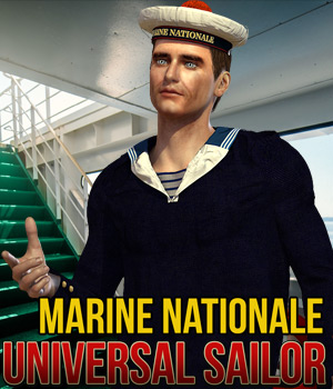 Marine Nationale for Universal Sailor 3D Figure Assets Cybertenko