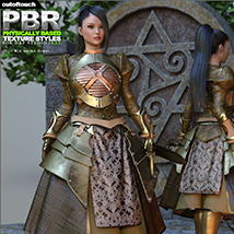 OOT PBR Texture Styles for Rin Anime Armor for G3F image 1