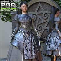 OOT PBR Texture Styles for Rin Anime Armor for G3F image 2