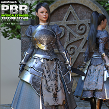 OOT PBR Texture Styles for Rin Anime Armor for G3F image 4