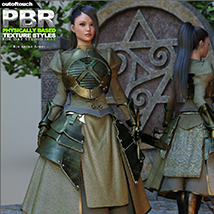 OOT PBR Texture Styles for Rin Anime Armor for G3F image 5