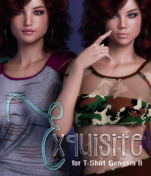 Exquisite for T Shirt for Genesis 8 Females 3D Figure Assets 3DSublimeProductions