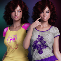 Exquisite for T Shirt for Genesis 8 Females image 1
