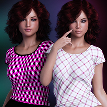 Exquisite for T Shirt for Genesis 8 Females image 2