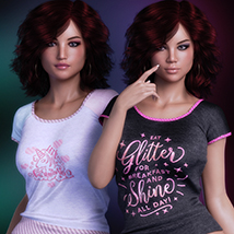 Exquisite for T Shirt for Genesis 8 Females image 3