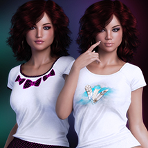 Exquisite for T Shirt for Genesis 8 Females image 4