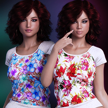 Exquisite for T Shirt for Genesis 8 Females image 5