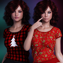 Exquisite for T Shirt for Genesis 8 Females image 6