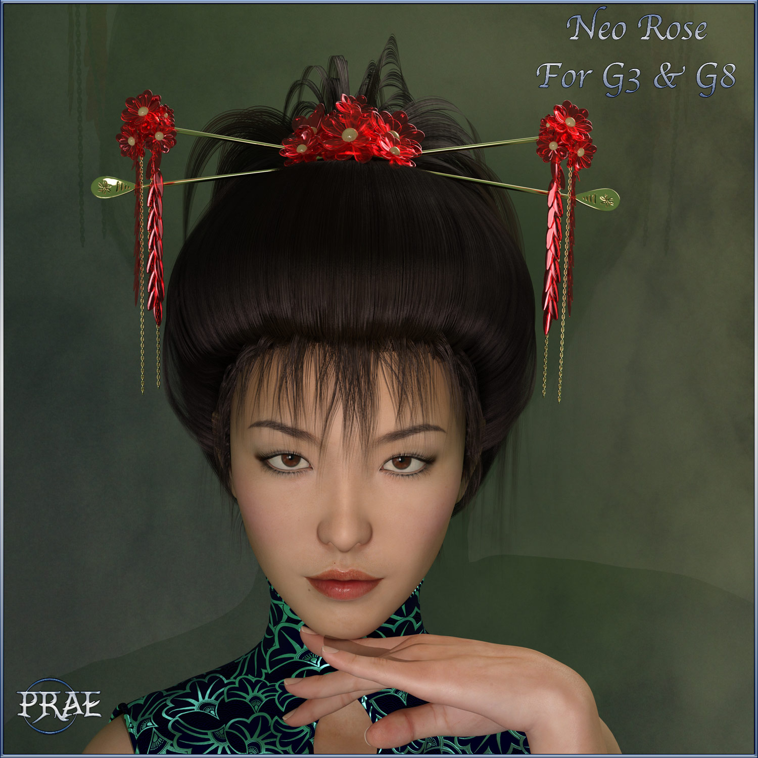 Prae-Neo Rose Hair G3/G8 Daz