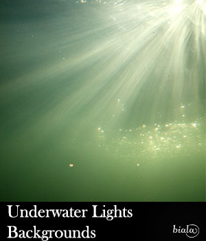 Underwater Lights Backgrounds 2D Graphics biala