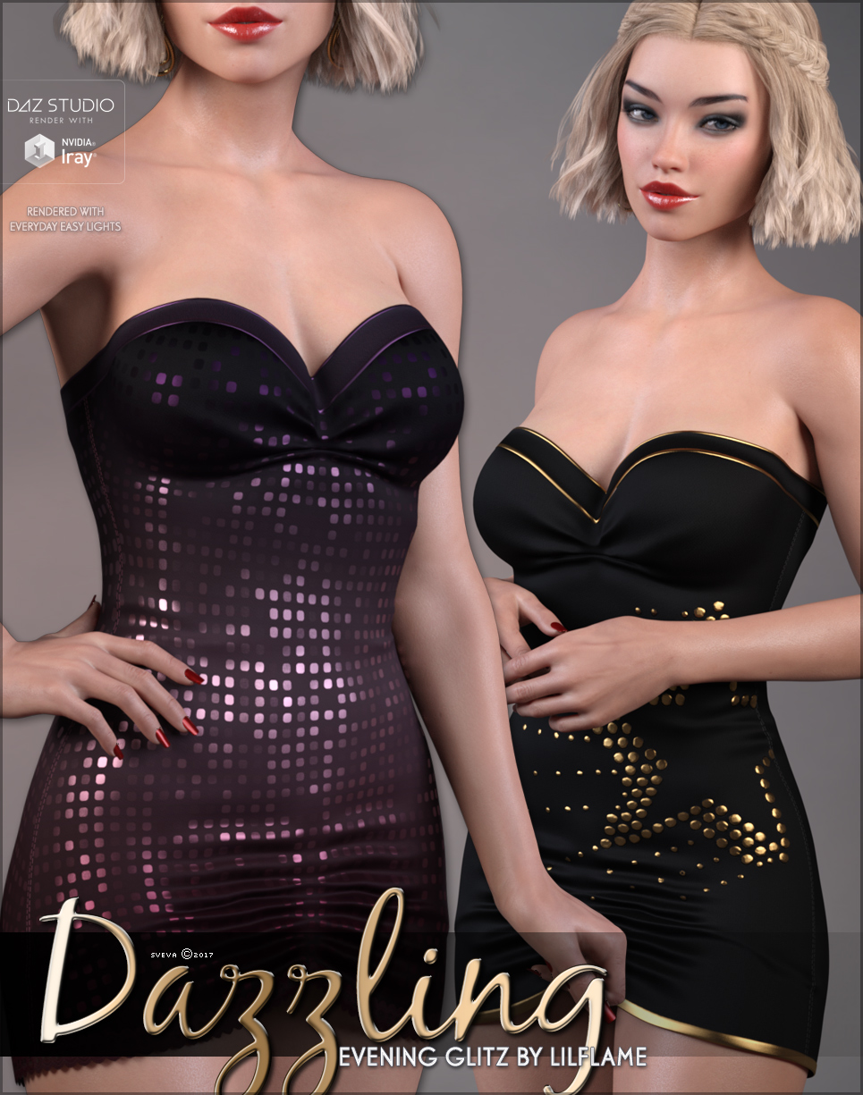 Dazzling for Evening Gltiz Genesis 8 Females