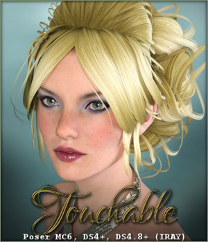Touchable Curly Updo 3D Figure Assets -Wolfie-