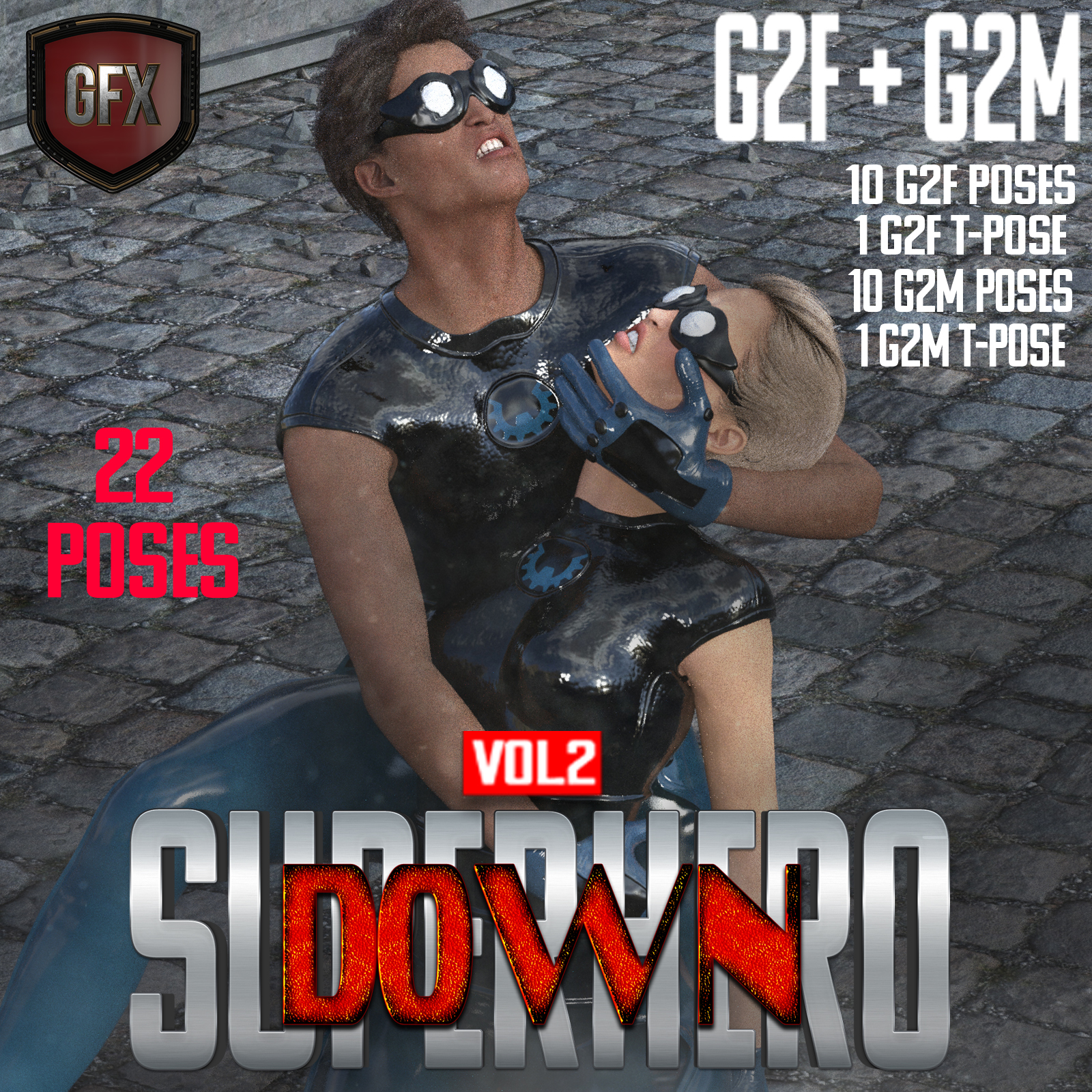 SuperHero Down for G2F and G2M Volume 2