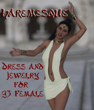 Haremesque outfit for G3 Female 3D Figure Assets succubusart