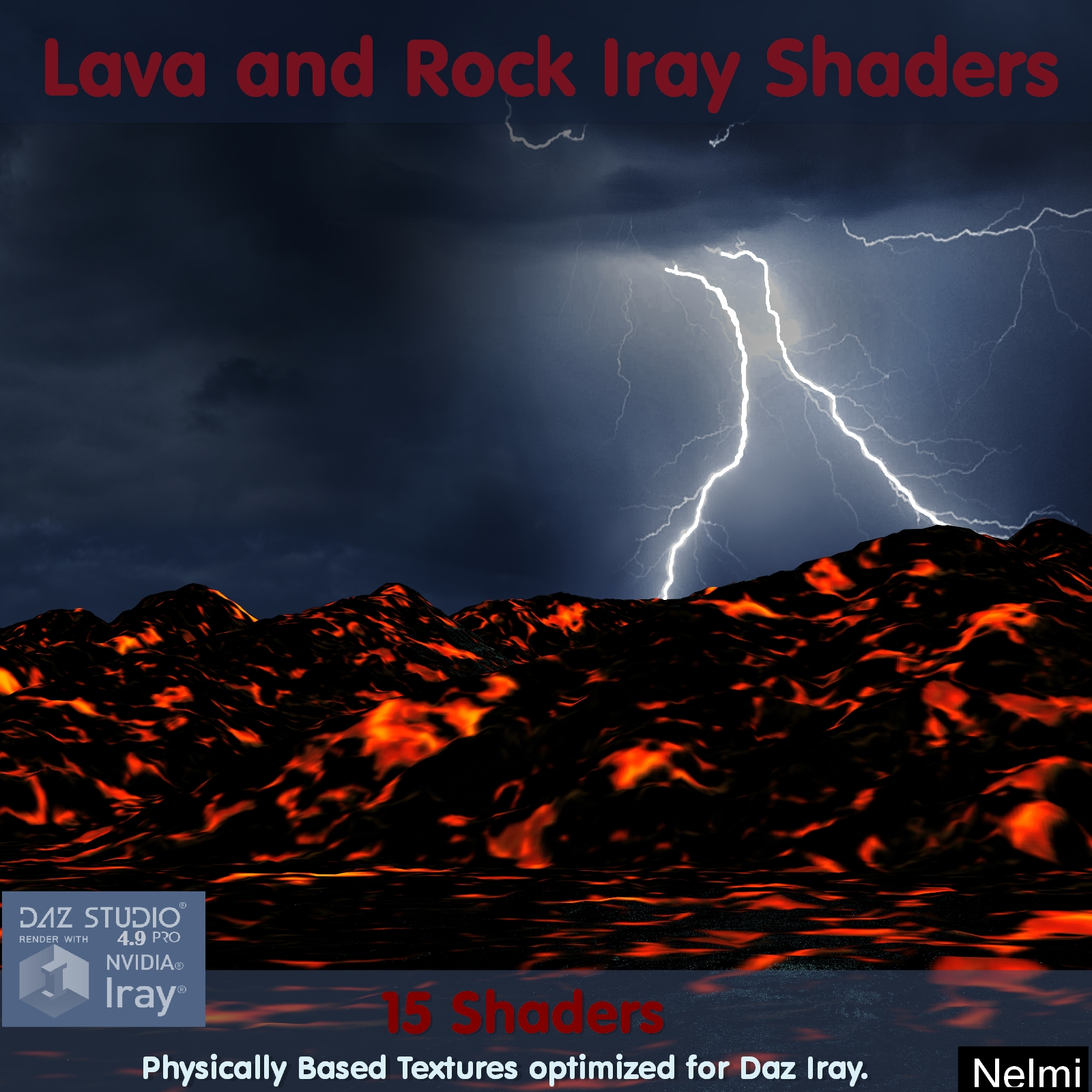 15 Lava and Rock Iray Shaders - Merchant Resource