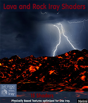 15 Lava and Rock Iray Shaders - Merchant Resource 3D Figure Assets Merchant Resources nelmi