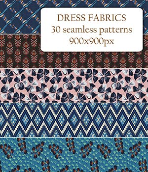 Dress Fabrics - Seamless patterns 2D Graphics Merchant Resources romawka