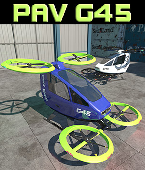 Personal Aerial Vehicle for Poser 3D Models 2nd_World