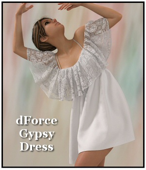 dForce - Gypsy Dress for G8F 3D Figure Assets Lully
