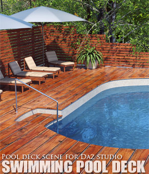 Swimming Pool Deck - Extended License 3D Models Extended Licenses lilflame