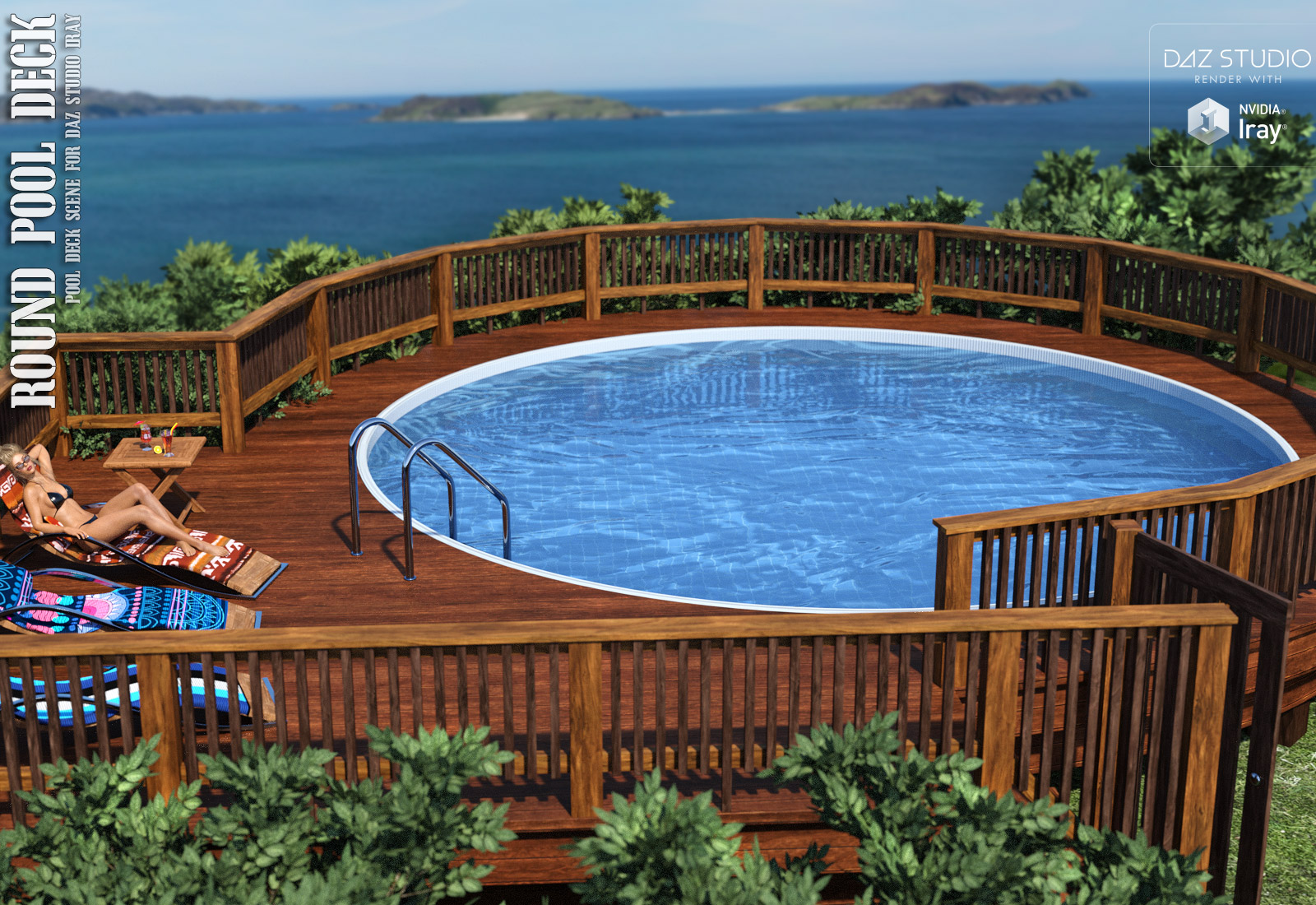 Round Pool Deck - Extended License