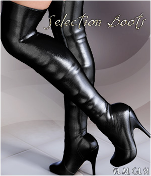 Selection Boots V4/A4/G4 - Extended License 3D Figure Assets Extended Licenses lilflame