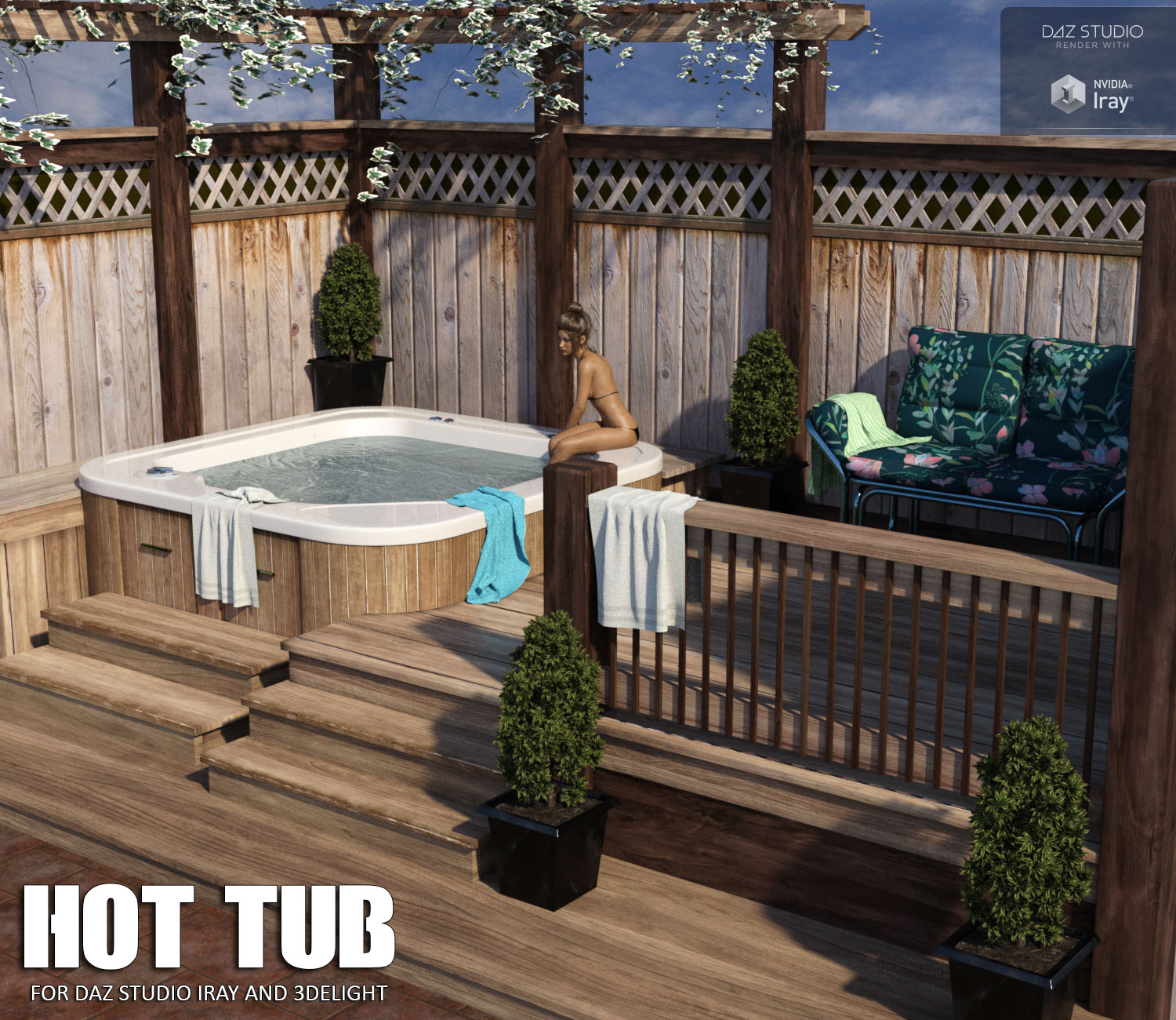 Hot Tub Daz Studio - Extended License by lilflame