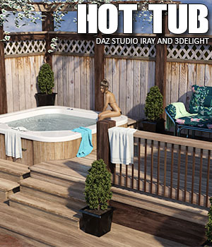 Hot Tub Daz Studio - Extended License 3D Models Extended Licenses lilflame