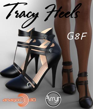 Tracy Heels and Pantyhose G8F 3D Figure Assets Arryn