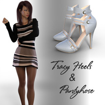 Tracy Heels and Pantyhose G8F image 4