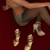 Tracy Heels and Pantyhose G8F image 6