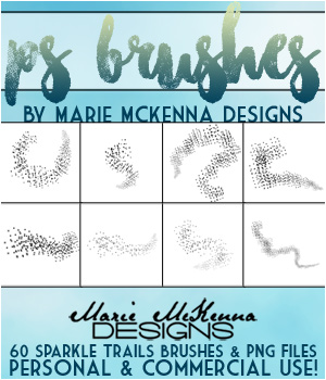 PS Brushes: Sparkle Trails 2D Graphics Merchant Resources MarieMcKennaDesigns