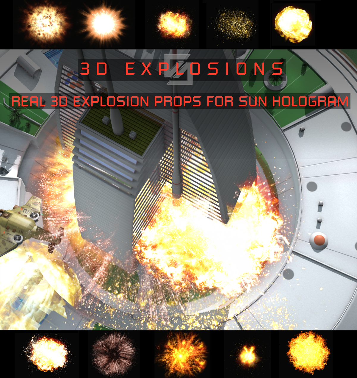 3D Explosions by shawnaloroc