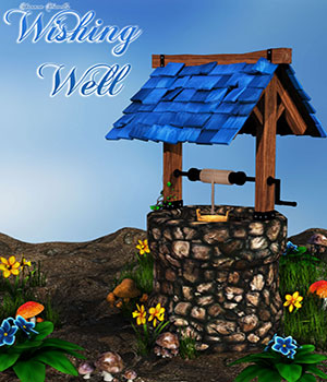 Wishing Well for Daz Studio 3D Models ShannonHowell