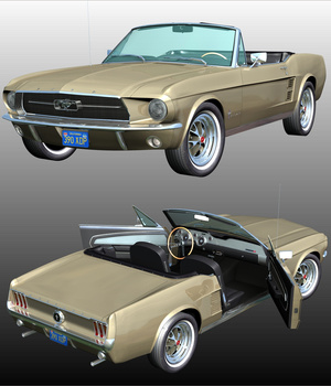 FORD MUSTANG 1967 for POSER 3D Models 3DClassics