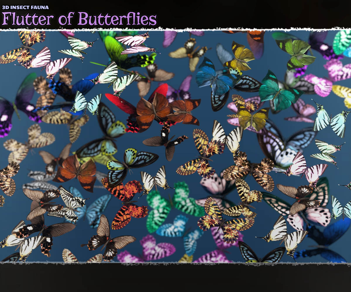 3D Insect Fauna: Flutter of Butterflies by ShaaraMuse3D