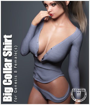 Big Collar Shirt and Panties for Genesis 8 Female  3D Figure Assets outoftouch