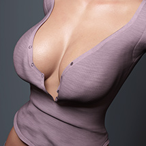 Big Collar Shirt and Panties for Genesis 8 Female  image 8