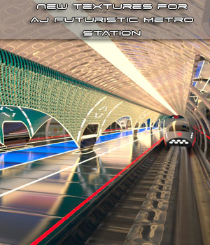 New Textures For AJ Futuristic Metro Station 3D Figure Assets -AppleJack-
