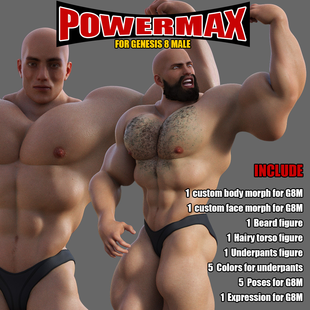 Power MAX for Genesis 8 Male by powerage